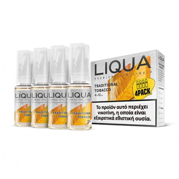 Liqua New Traditional Tobacco 4 x 10ml